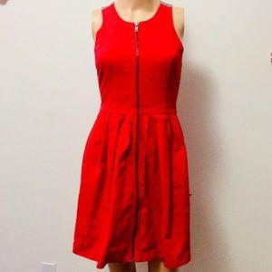 BB Dakota Red Skater Dress (4)